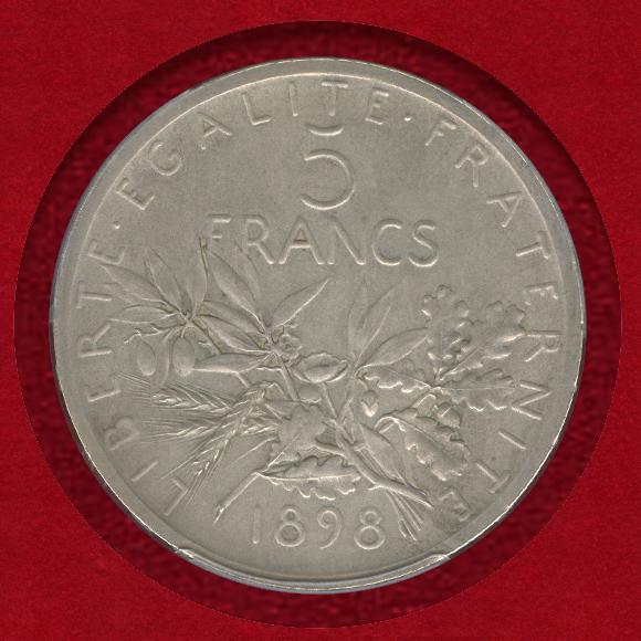 1898 5francs ESSAI