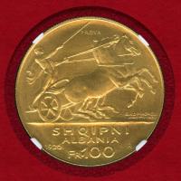 100フランガアリ金貨