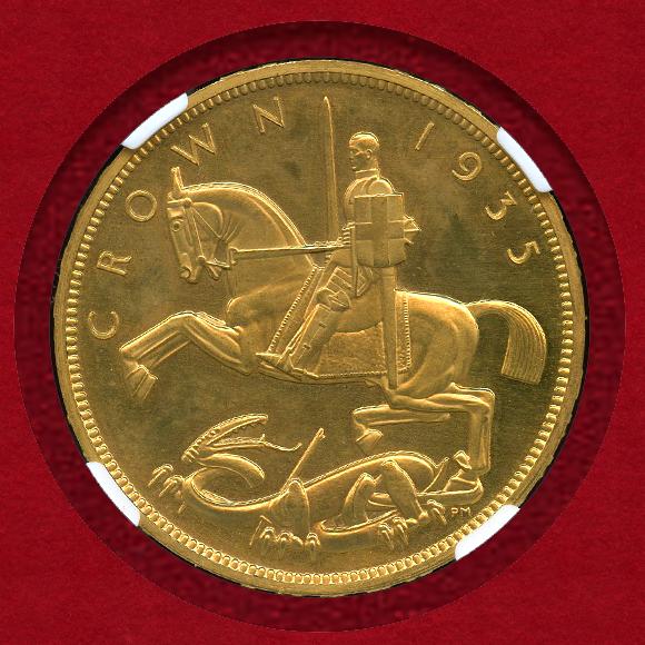 1935年 ジョージ5世 Crown 金打ち
