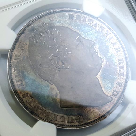 1831年クラウン銀貨プルーフ ウィリアム4世