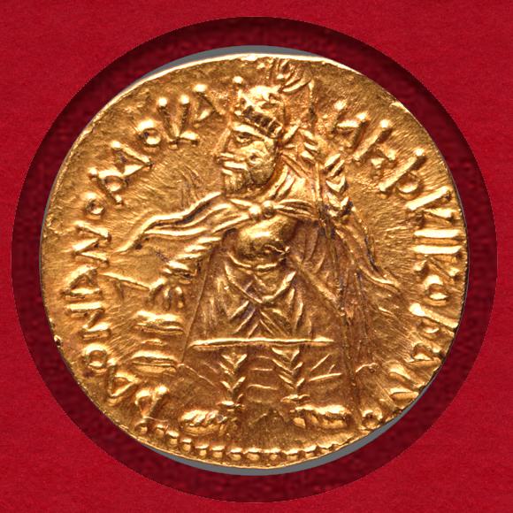 カニシュカ1世 スタテール金貨