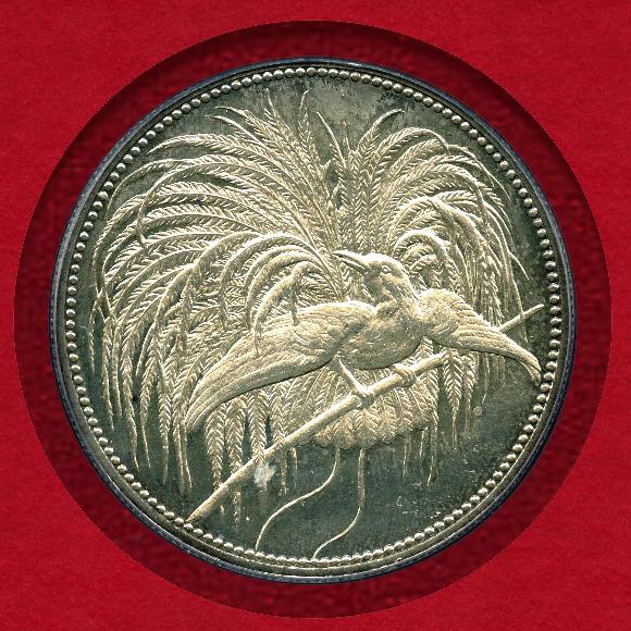 極楽鳥プルーフ銀貨